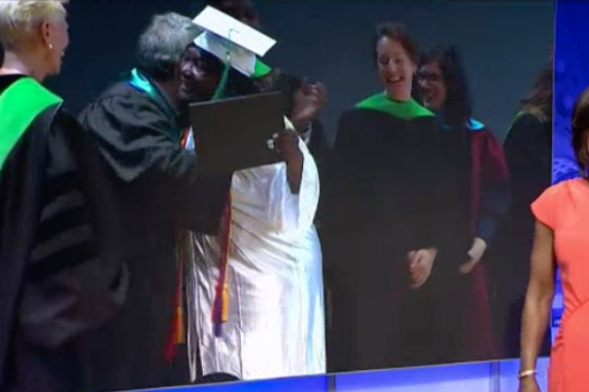 Channel 4 Video of 71 Year Old Grandmother Graduates from The Goodwill Excel Center