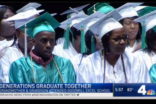 grandson and grandmother earn high school diplomas together
