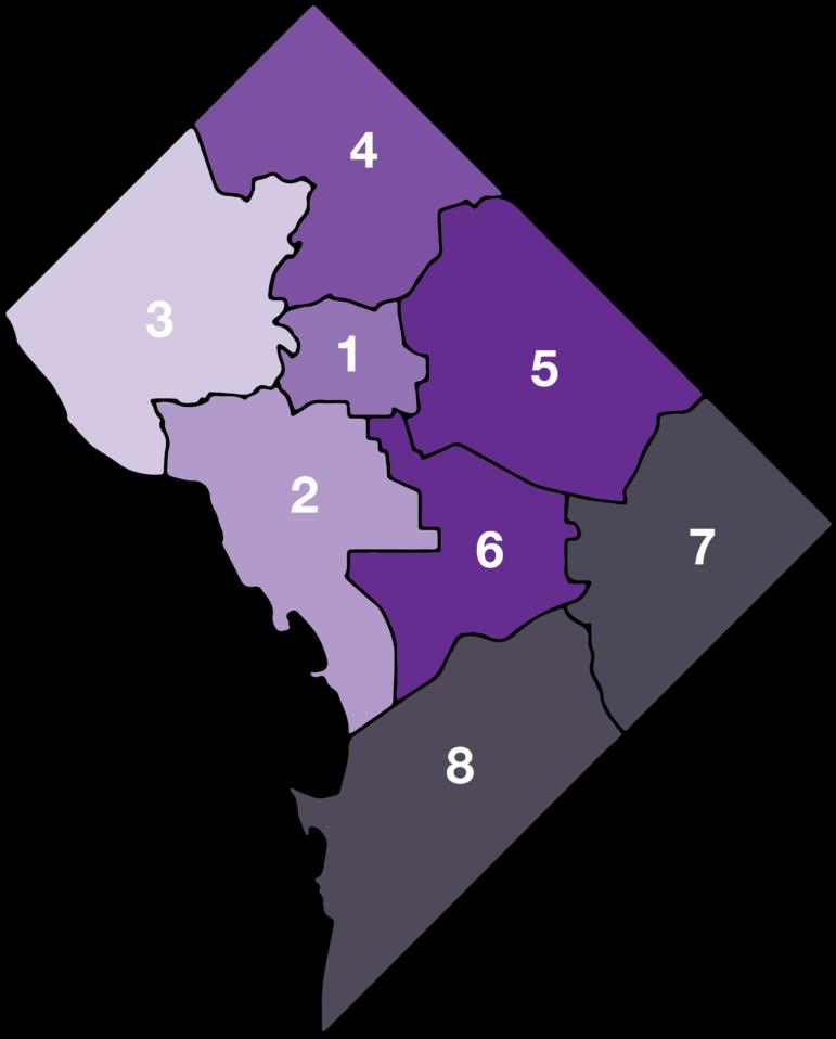 School Enrollment By DC Wards